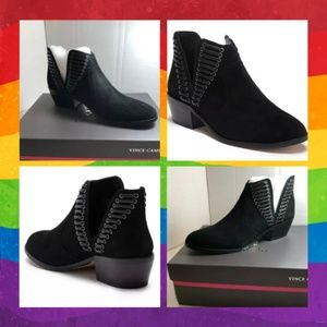 Vince Camuto Pevista Bootie Black New in Box
